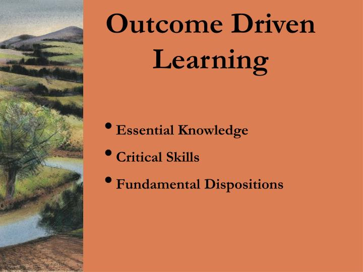 Outcome Driven Learning