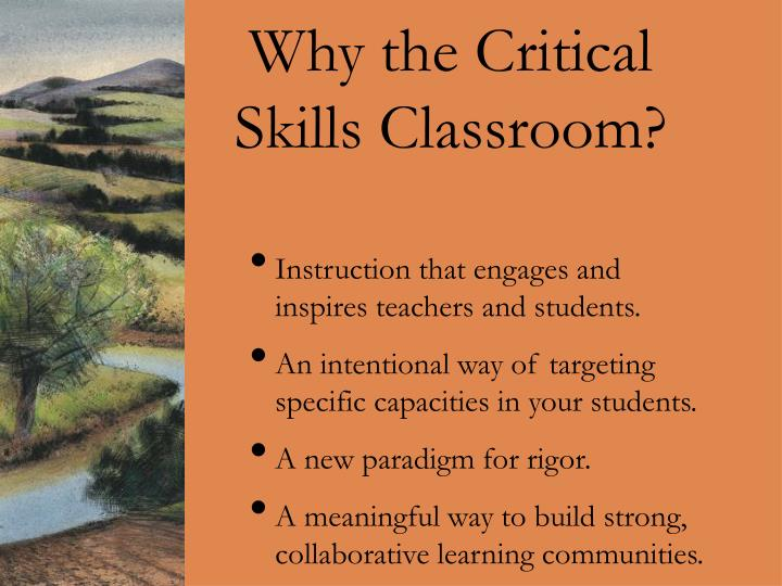Why the Critical Skills Classroom?