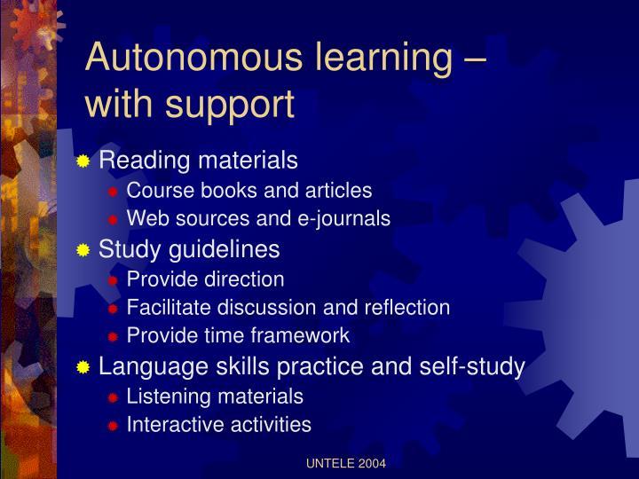 Autonomous learning –