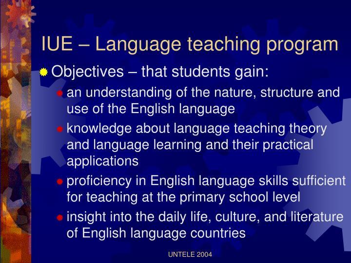 IUE – Language teaching program