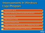 improvements in windows logo program