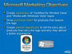 microsoft marketing objectives
