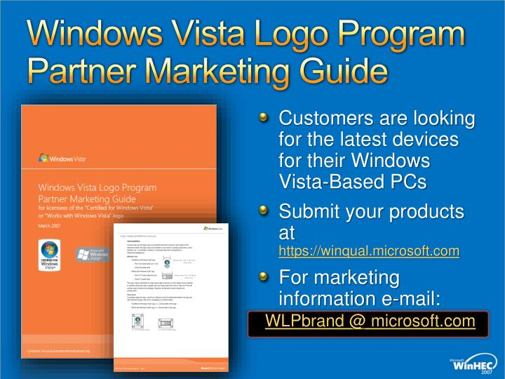 Windows Vista Logo Program Partner Marketing Guide
