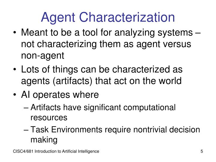 Agent Characterization
