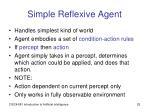 simple reflexive agent