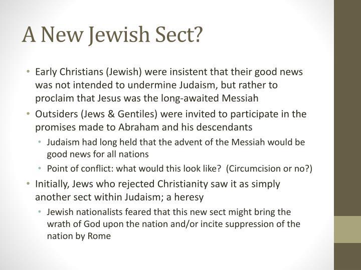 A New Jewish Sect?