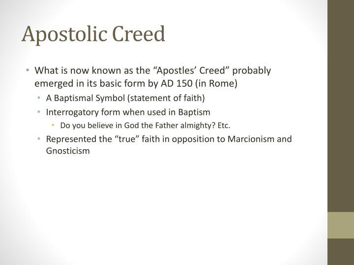 Apostolic Creed