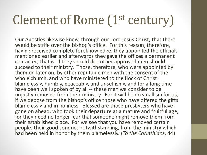 Clement of Rome (1