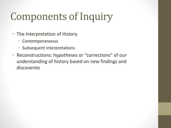 Components of Inquiry