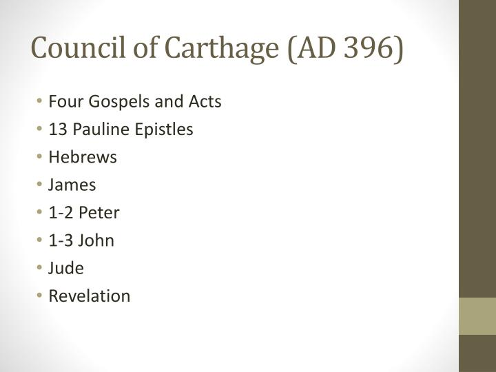 Council of Carthage (AD 396)