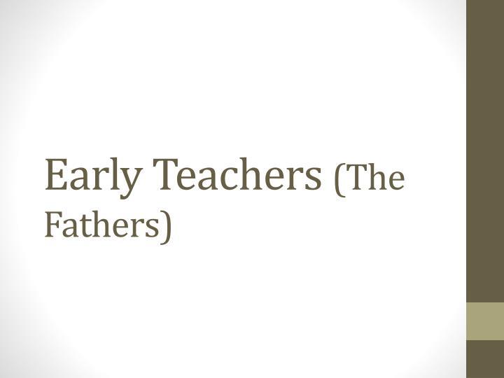 Early Teachers