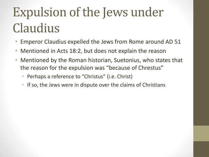 Expulsion of the Jews under Claudius