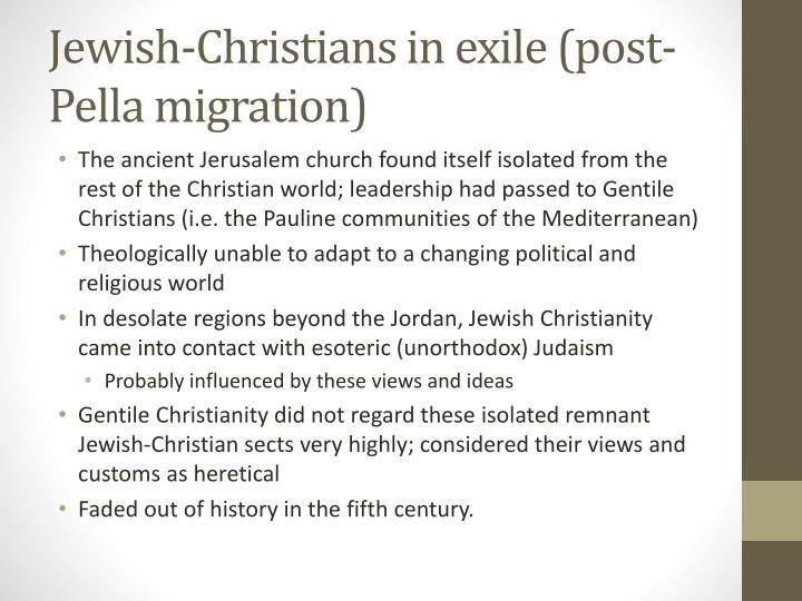 Jewish-Christians in exile (post-Pella migration)
