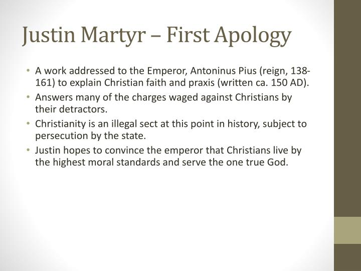 Justin Martyr – First Apology