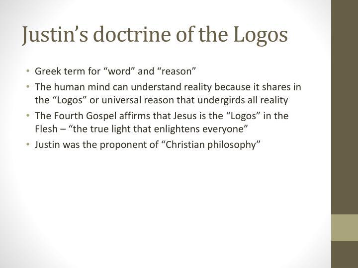 Justin's doctrine of the Logos