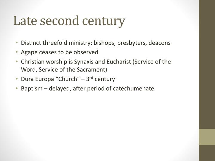 Late second century
