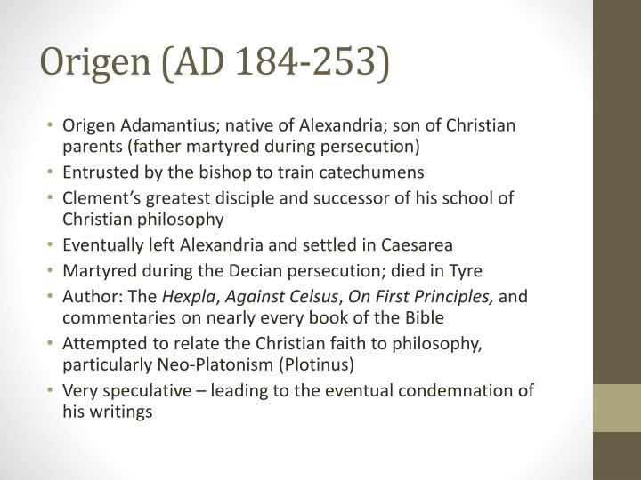 Origen (AD 184-253)