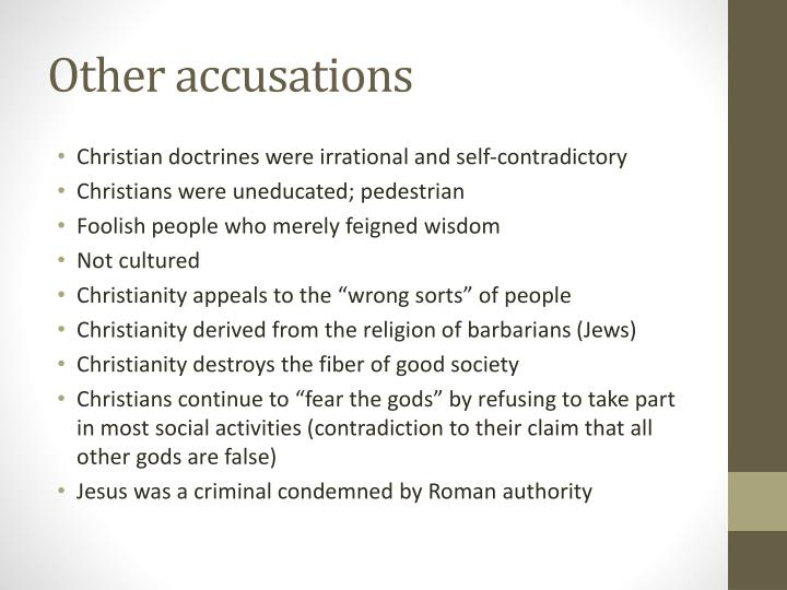 Other accusations