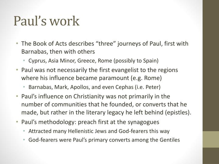 Paul's work