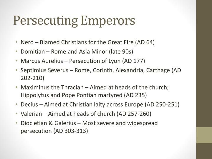 Persecuting Emperors