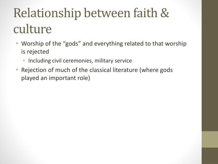Relationship between faith & culture
