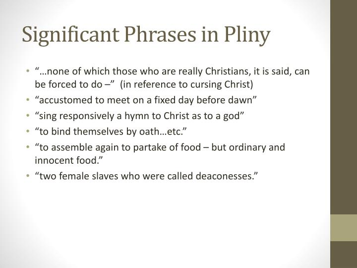 Significant Phrases in Pliny