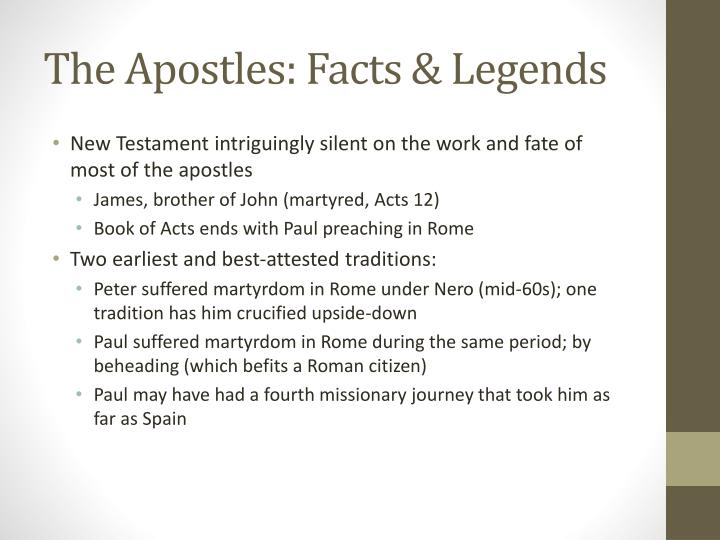 The Apostles: Facts & Legends