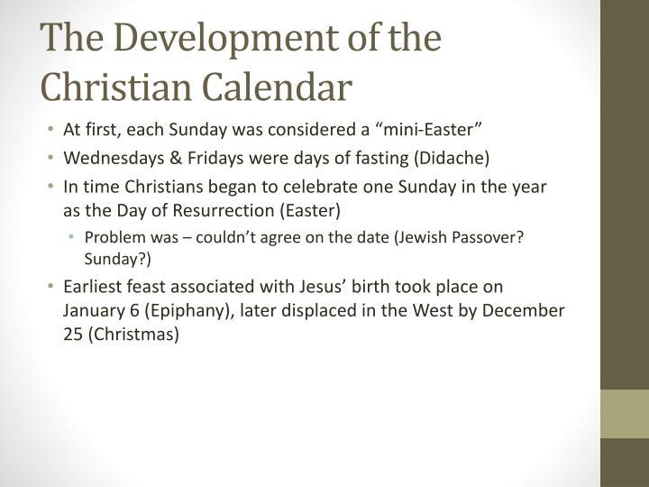 The Development of the Christian Calendar