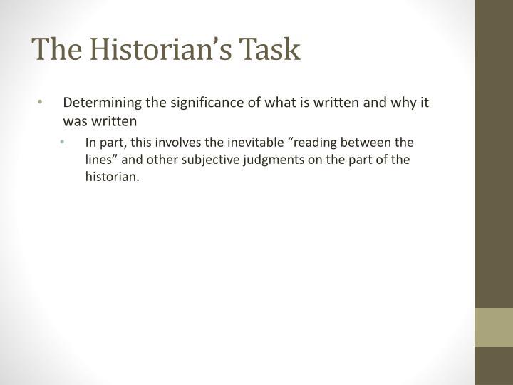 The Historian's Task