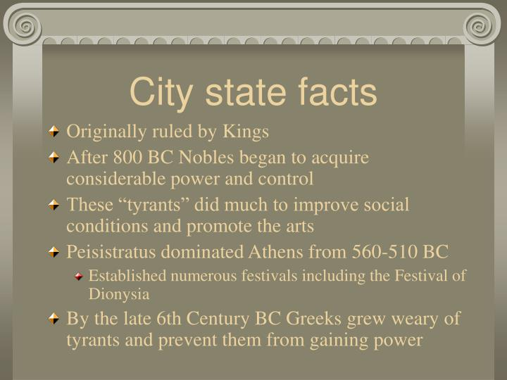 City state facts