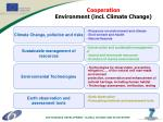 cooperation environment incl climate change