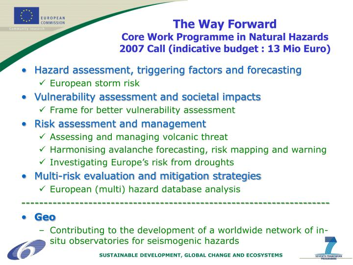 Hazard assessment, triggering factors and forecasting