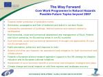 the way forward core work programme in natural hazards possible future topics beyond 2007