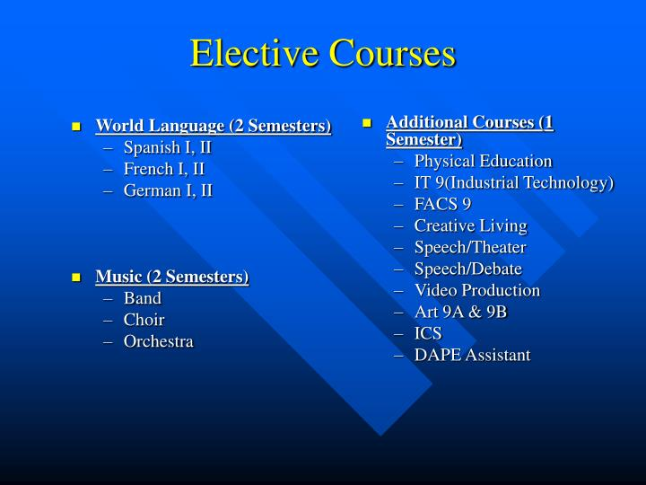 World Language (2 Semesters)