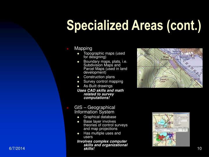 Specialized Areas (cont.)