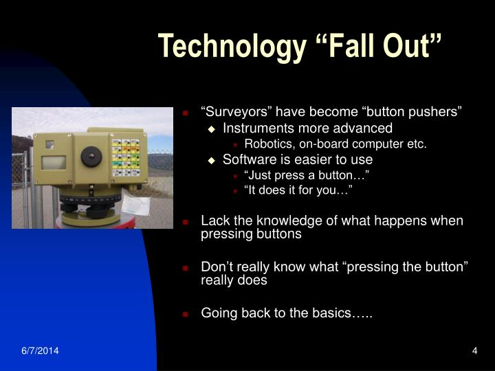 "Technology ""Fall Out"""