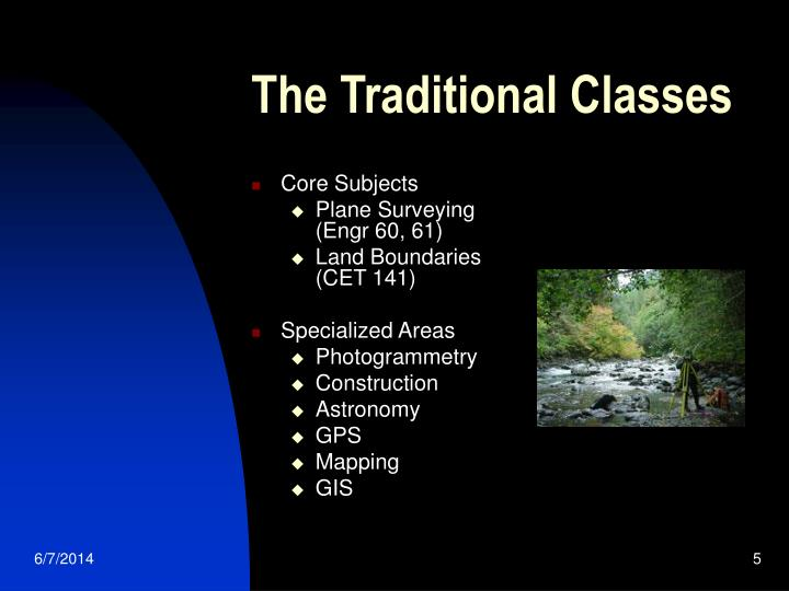 The Traditional Classes