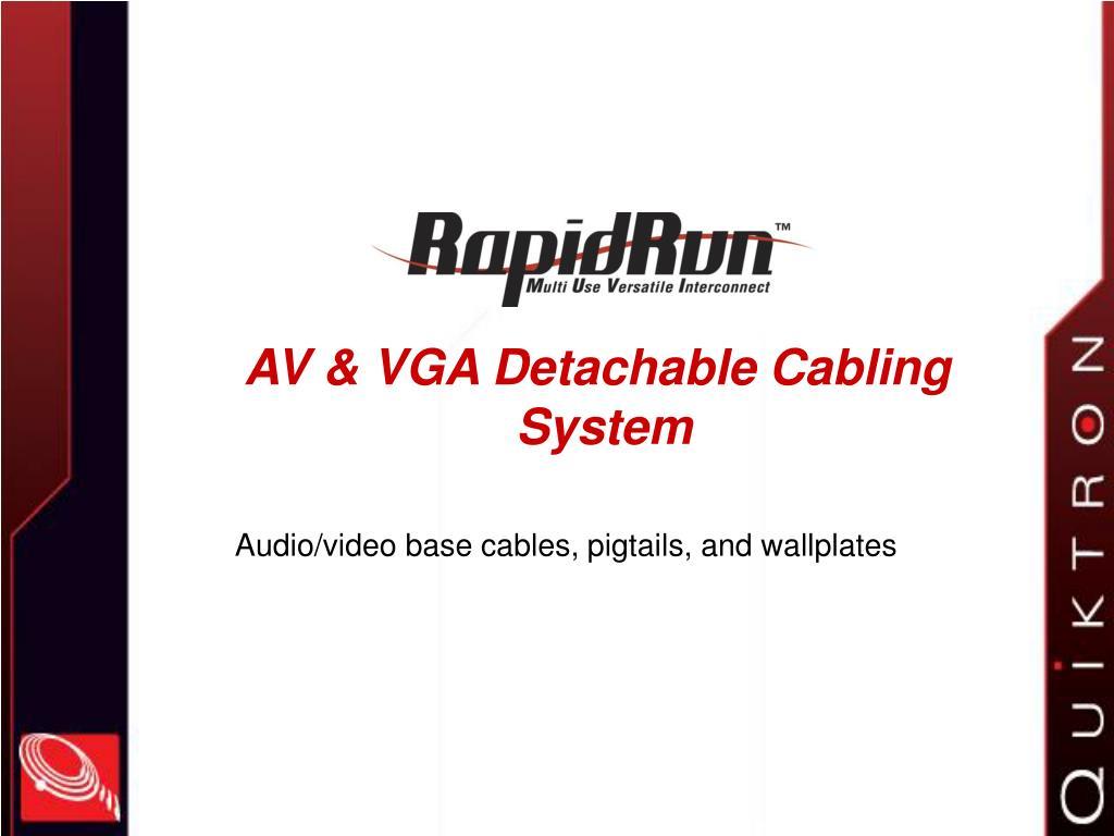 av vga detachable cabling system