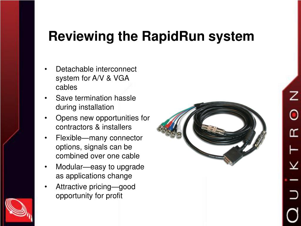 Reviewing the RapidRun system