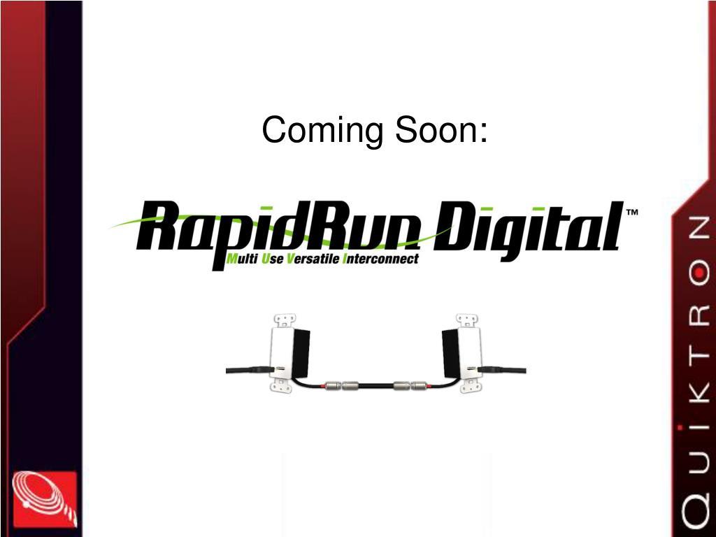 Coming Soon: