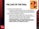 the last of the faqs
