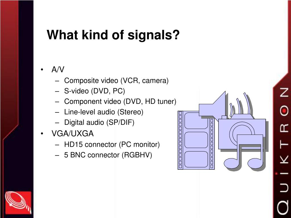 What kind of signals?
