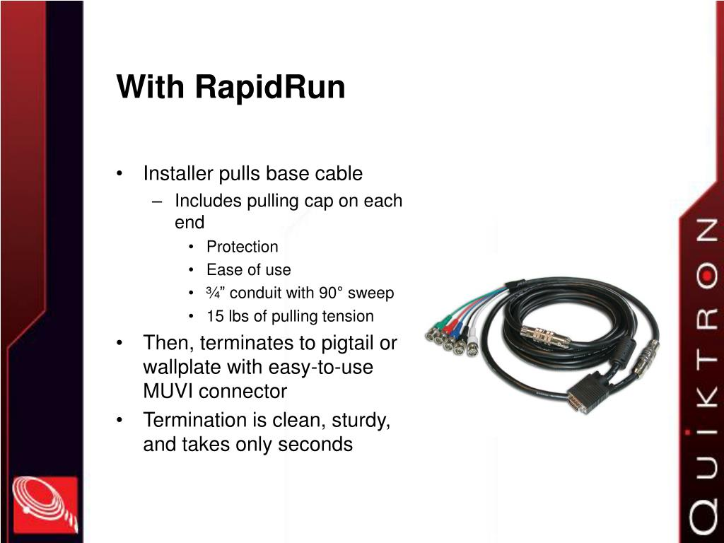With RapidRun