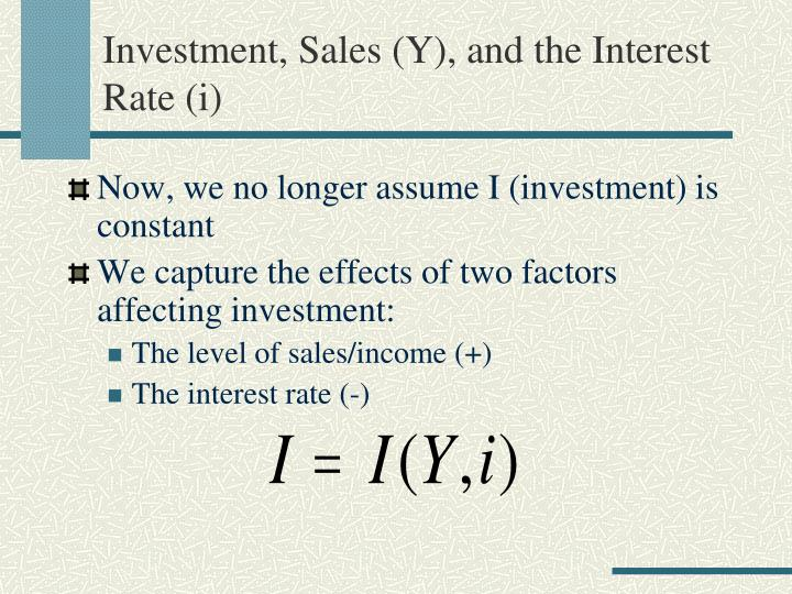 Investment sales y and the interest rate i