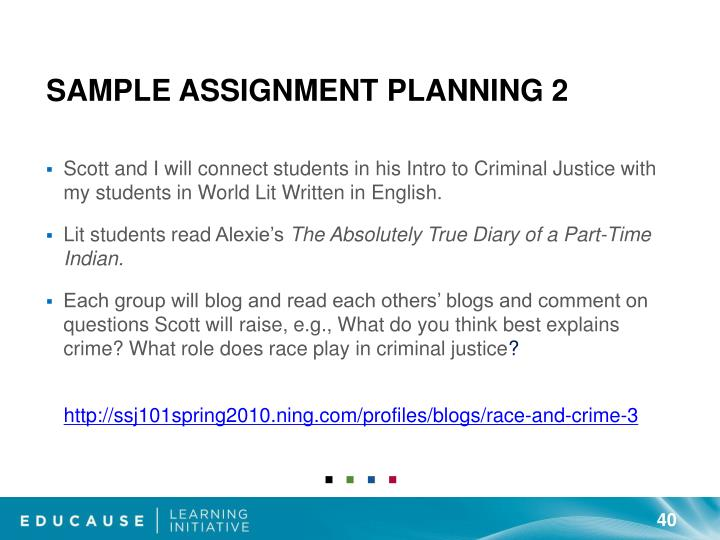 Sample Assignment Planning 2
