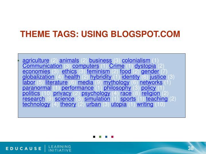 Theme Tags: Using Blogspot.com