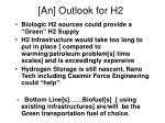 an outlook for h2