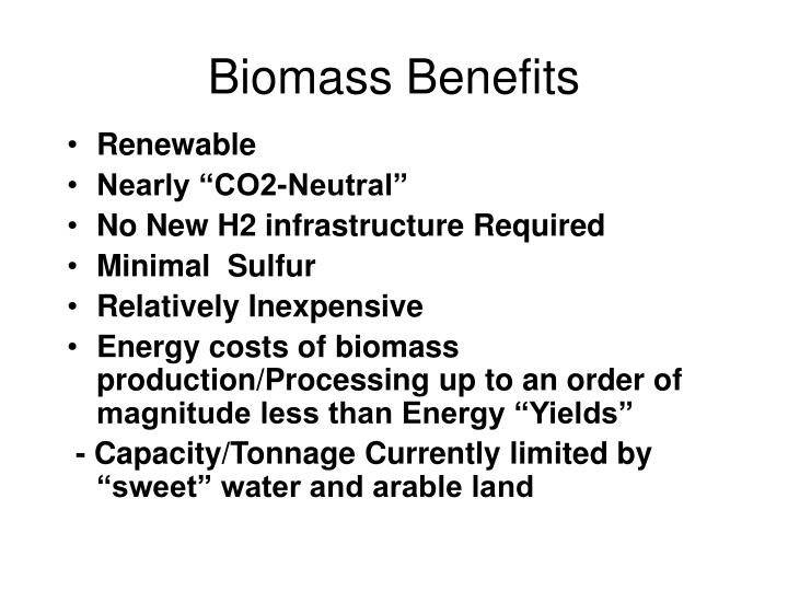 Biomass Benefits