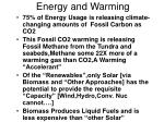 energy and warming