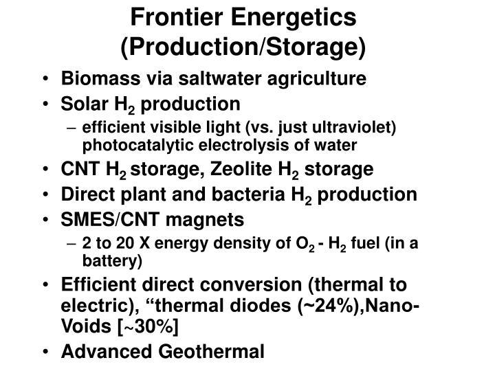Frontier Energetics